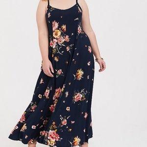 Torrid navy floral challis dress